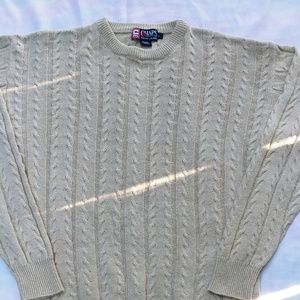 Chaps Beige Cable Knit Sweater